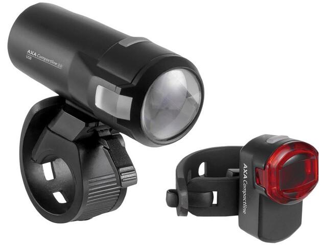 Axa Compactline 20 Battery Lighting Set LED StVZO black